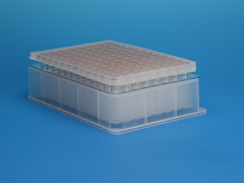 96 –Well Plate with Glass Inserts Designed for High Throughput Chromatography