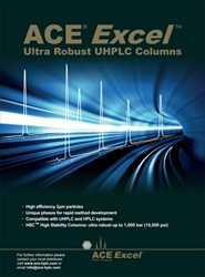 ACE Excel 2µm Ultra Robust UHPLC columns from Advanced Chromatography