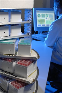 An operator with EuroCryo, Europe's largest research biobank