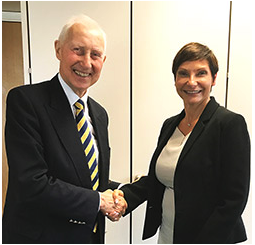 David Giles, Chairman of Alpha Laboratories Ltd. confirms the distributor agreement with Nadia Whittley, Arquer CEO