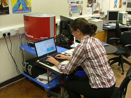 Dr Nicola Rogers using the Magritek Spinsolve