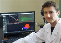 Dr Pawel Stelmachowski of the Jagiellonian University in Krakow with NanoSight LM10 NTA system