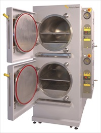 Dual stacked autoclave