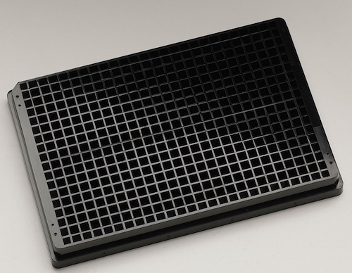Krystal UV quartz bottomed microplates.