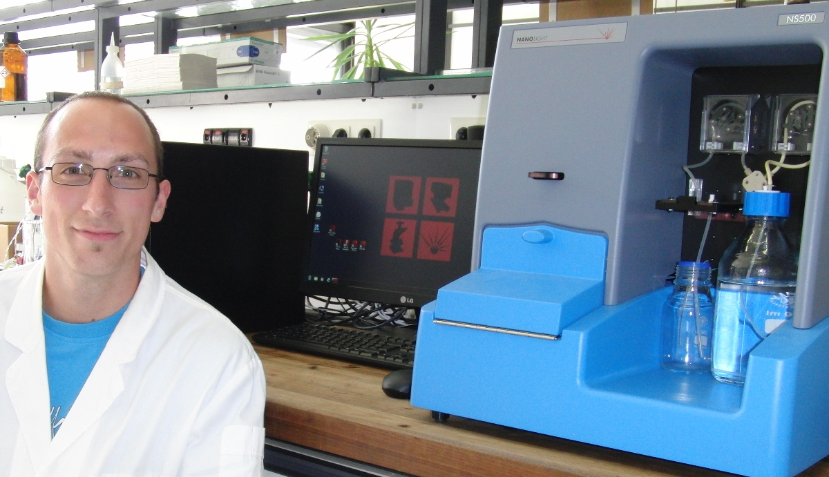 Daniel Moldenhauer uses the new NS500+DLS in the Groehn group at the University of Erlangen-Nürmberg.