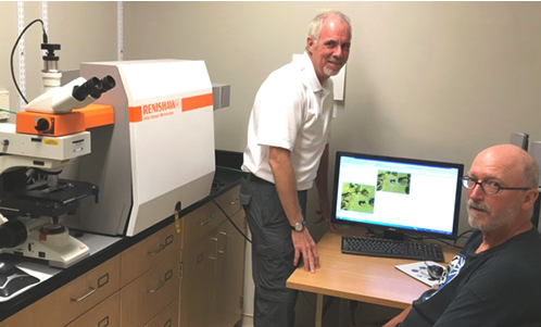 Professors Robin Turner & Mike Blades from the University of British Columbia in Vancouver, Canada, with their Renishaw inVia confocal Raman spectromete