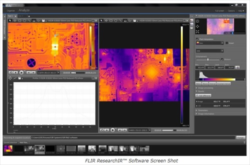 ResearchIR thermal imaging camera control and analysis software
