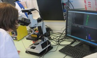Severine Vilain uses NanoSights LM10 NTA system in Santens R&D laboratory in France