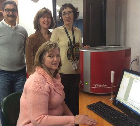 with their Magritek Spinsolve Benchtop NMR Spectrometer