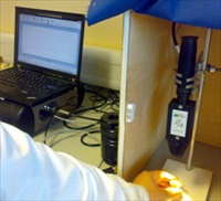The LabSpec 4 portable Vis-NIR spectrometer in use at Cranfield University