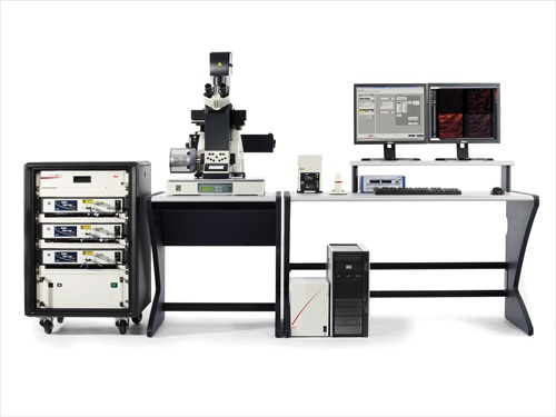 The Leica SR GSD 3D super-resolution system for 3D localization microscopy attains a resolution of 20 nanometers in x and y and up to 50 nanometers in z direction