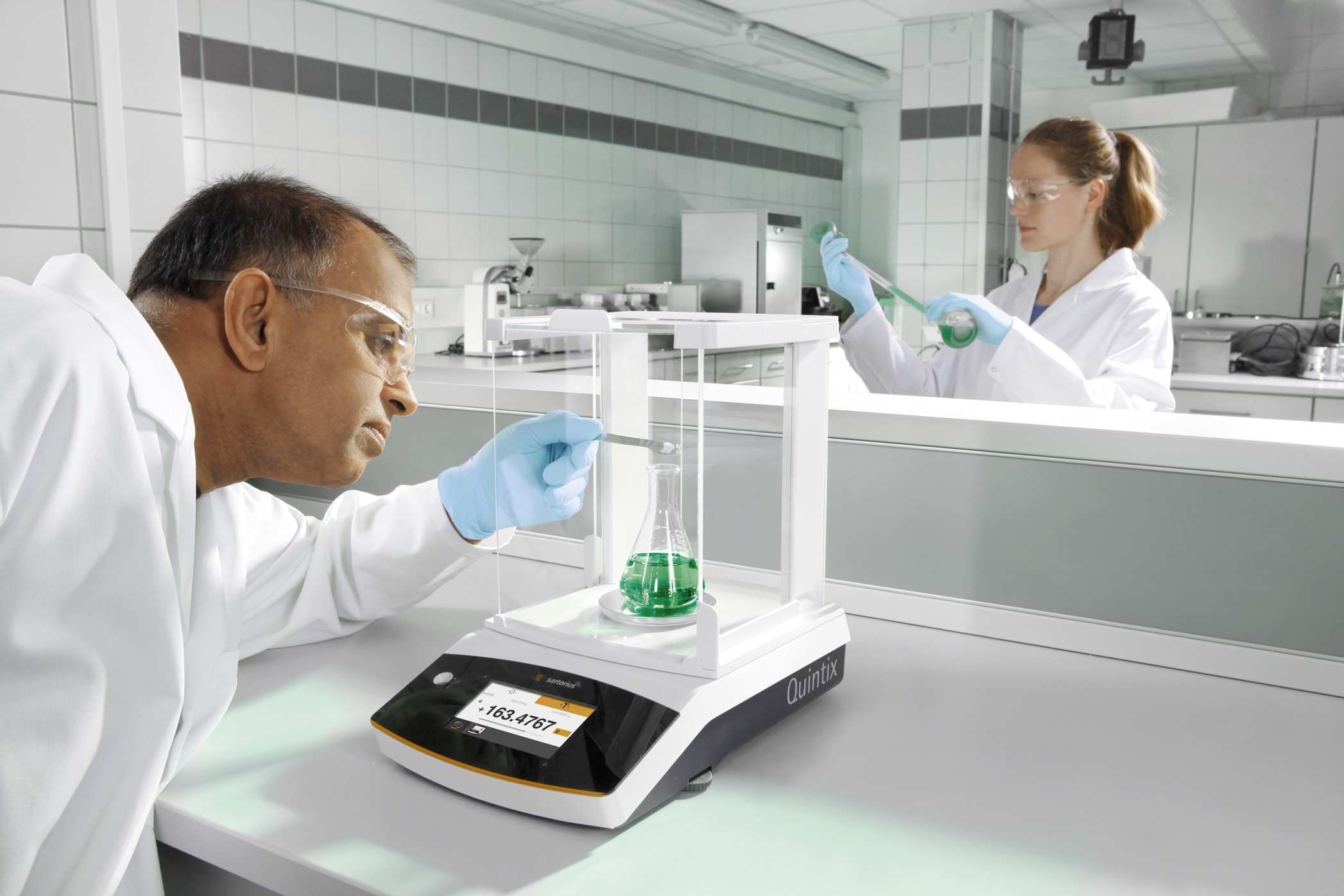The Sartorius Quintix can guarantee the highest metrological quality and reliability of its weighing results