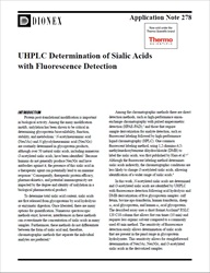 UHPLC Determination of Sialic Acids with Fluorescence Detection