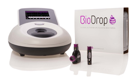 BioDrop CUVETTE and BioDrop UV/Vis spectrophotometers