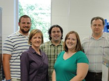 University of Iowa researchers aim to keep our school teachers talking (From left: Alexander Tomesch, Dr. Sarah Klemuk, Andrew Wagner, Stacey Church, John Nichols)