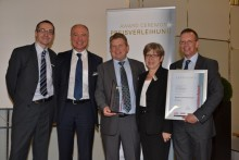 The Malvern Instruments team receives the Innovation Award at Powtech 2011