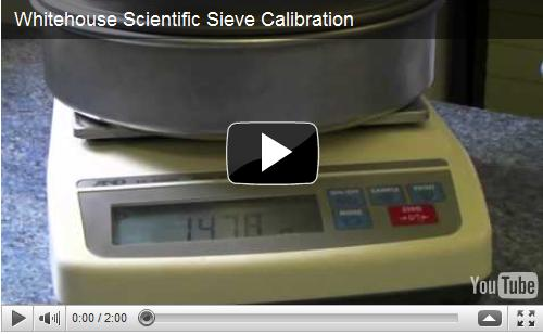 Whitehouse Scientific Sieve Calibration video