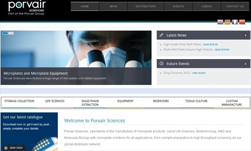 New Porvair Sciences website