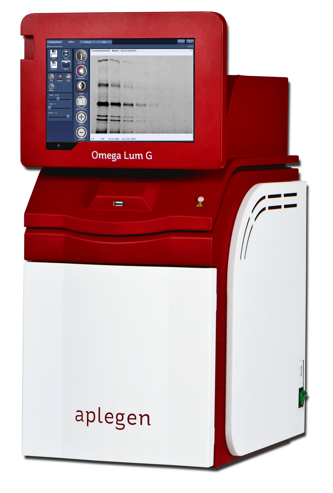 Omega Lum G Gel Documentation system