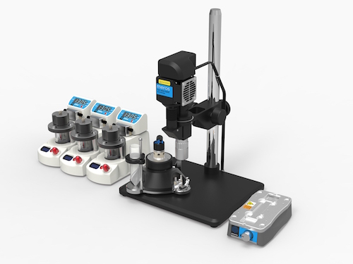 microscope with rna chip and pumps