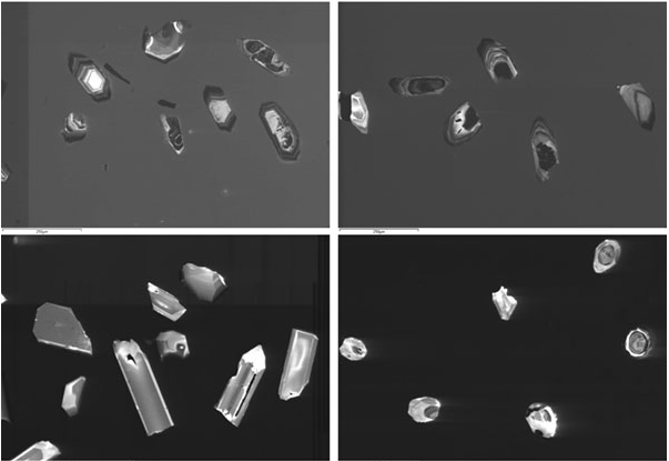 selection of CL images of zircons